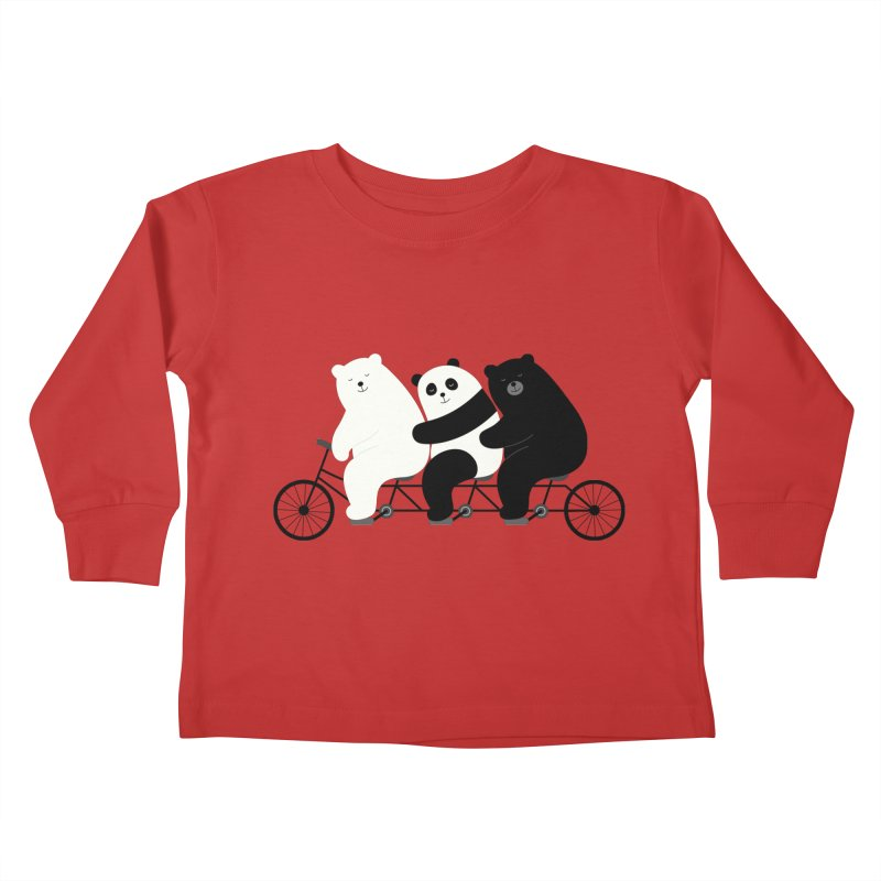 Family Time Kids Toddler Longsleeve T-Shirt by andywestface's Artist Shop
