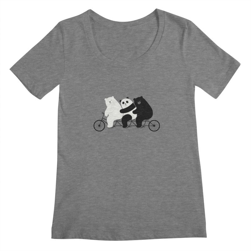 Family Time Women's Scoopneck by andywestface's Artist Shop