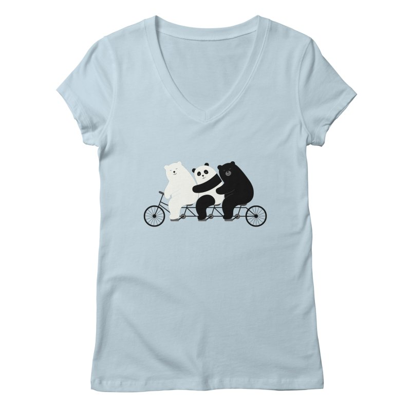 Family Time Women's V-Neck by andywestface's Artist Shop