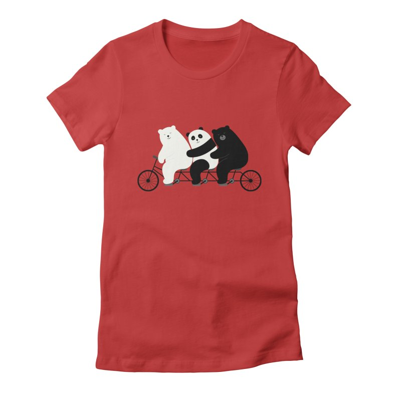Family Time Women's Fitted T-Shirt by andywestface's Artist Shop