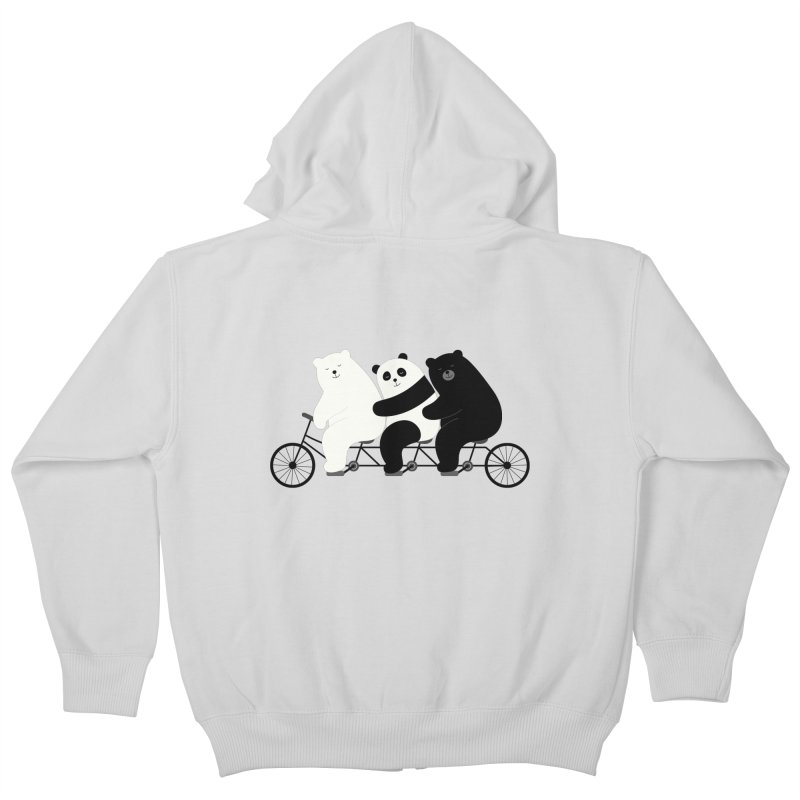 Family Time Kids Zip-Up Hoody by andywestface's Artist Shop