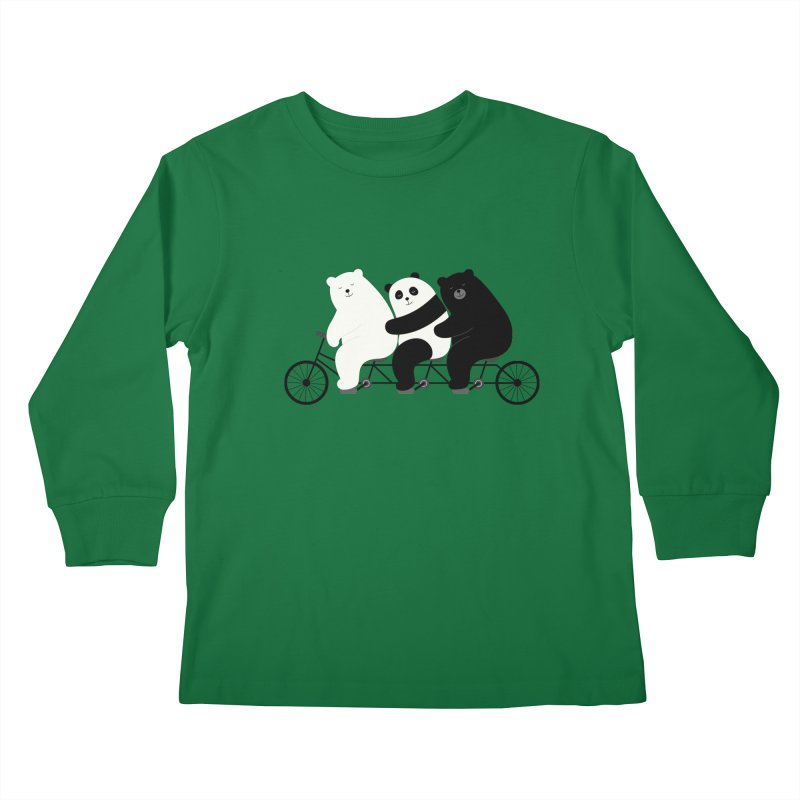 Family Time Kids Longsleeve T-Shirt by andywestface's Artist Shop