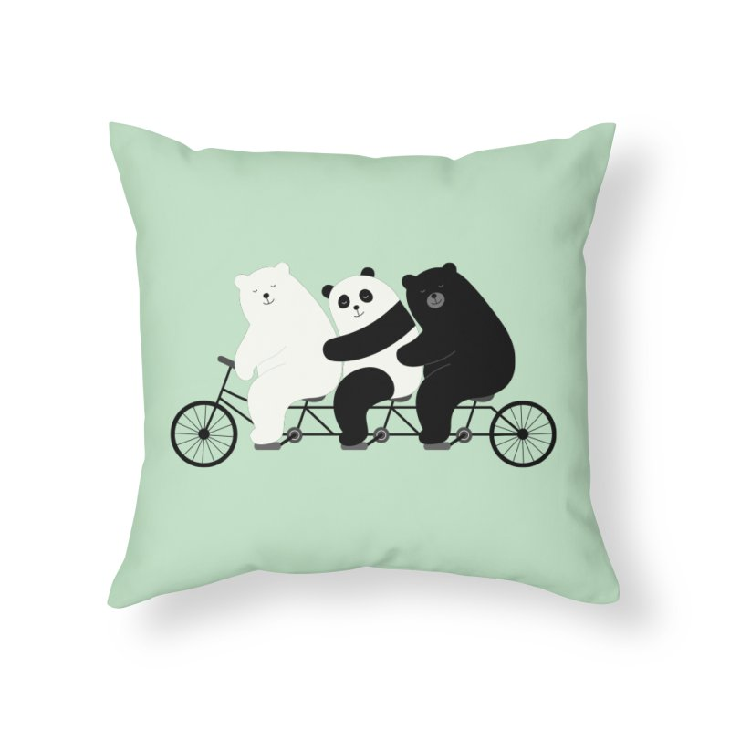 Family Time Home Throw Pillow by andywestface's Artist Shop
