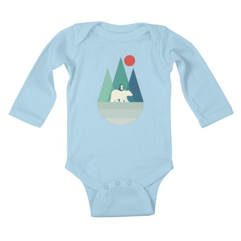 Bear You Kids Baby Longsleeve Bodysuit by andywestface's Artist Shop