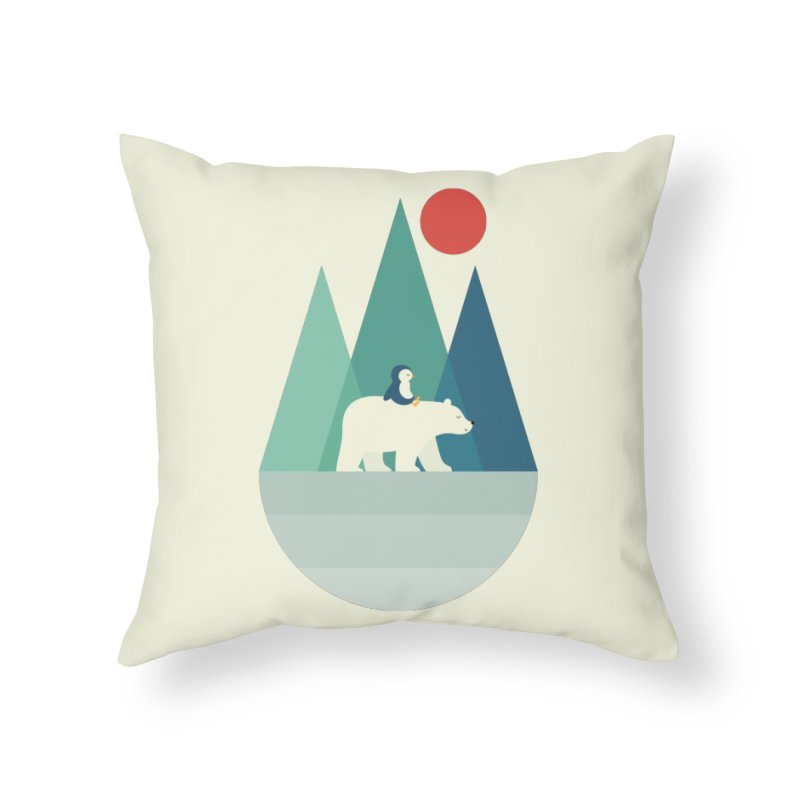 Bear You Home Throw Pillow by andywestface's Artist Shop