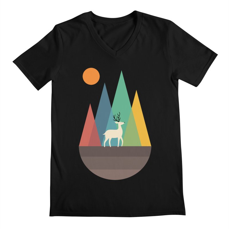 Step Of Autumn Men's V-Neck by andywestface's Artist Shop