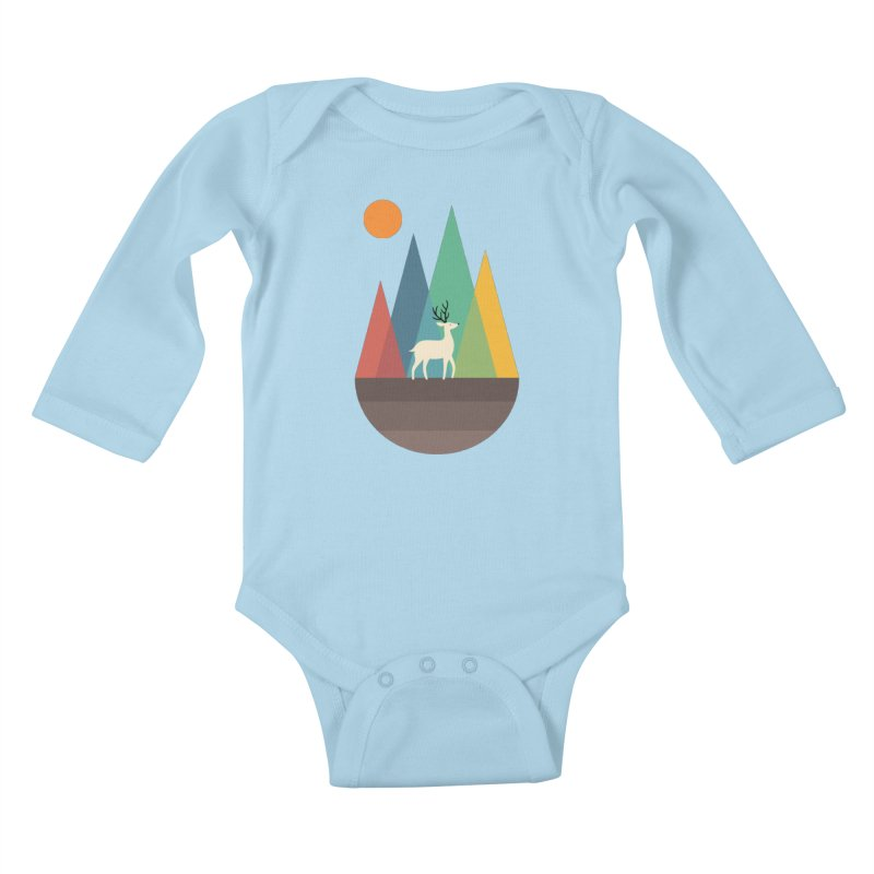 Step Of Autumn Kids Baby Longsleeve Bodysuit by andywestface's Artist Shop