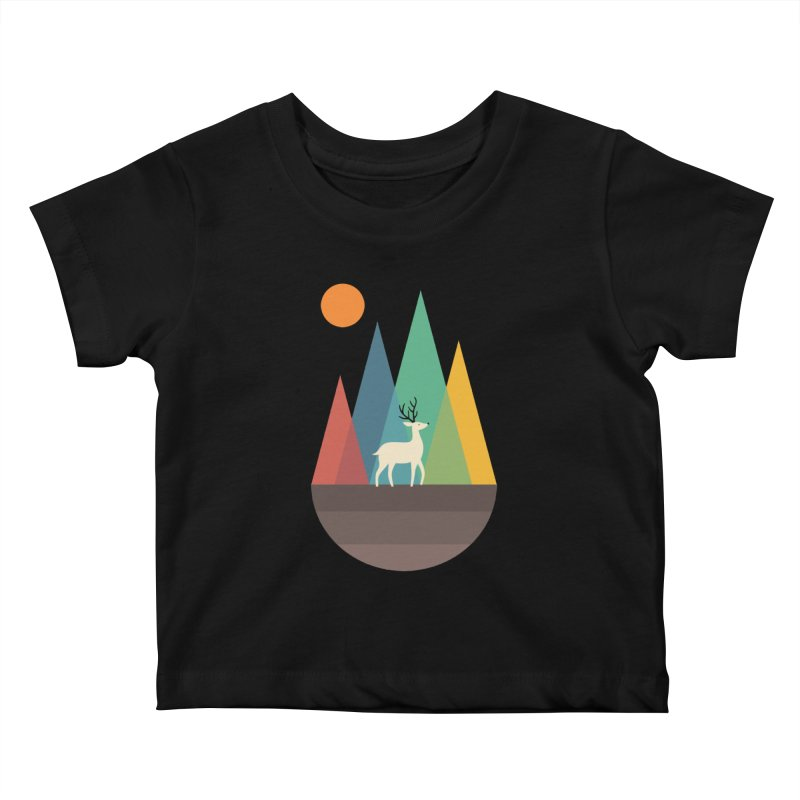Step Of Autumn Kids Baby T-Shirt by andywestface's Artist Shop