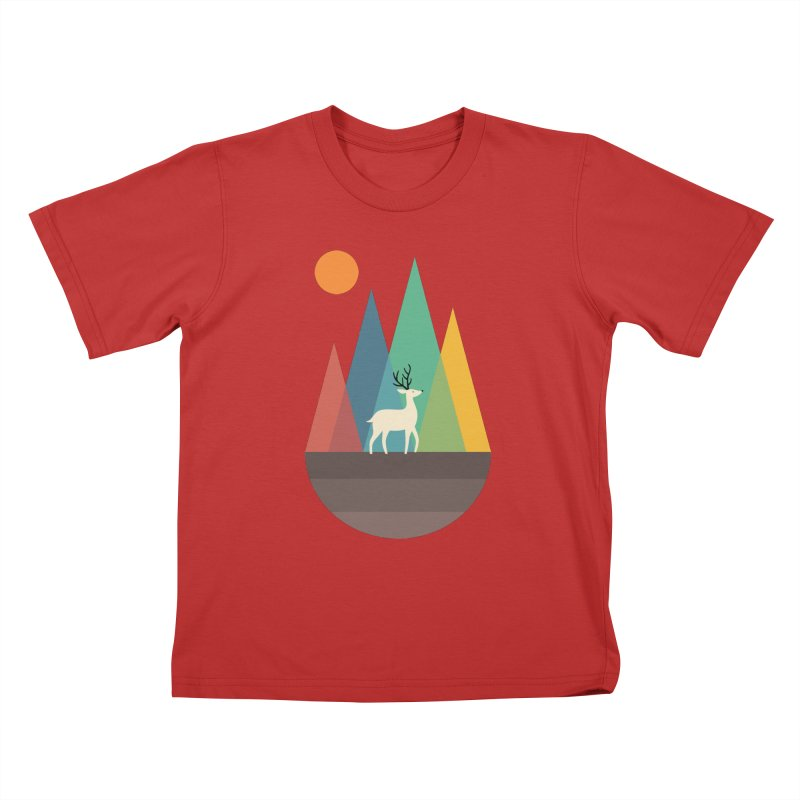 Step Of Autumn Kids T-Shirt by andywestface's Artist Shop