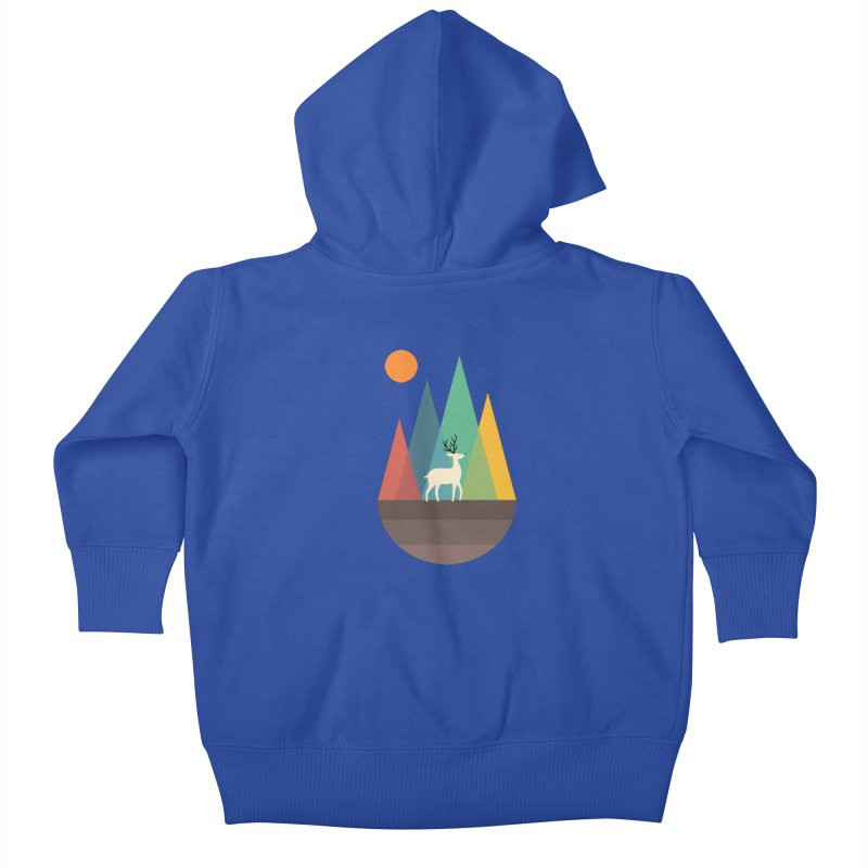 Step Of Autumn Kids Baby Zip-Up Hoody by andywestface's Artist Shop
