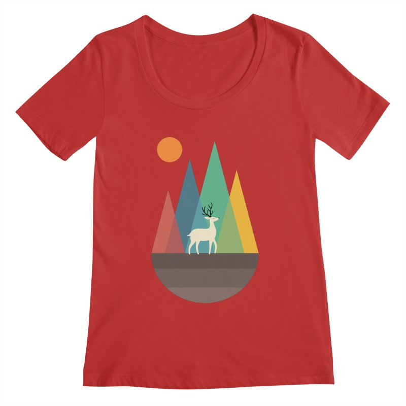 Step Of Autumn Women's Scoopneck by andywestface's Artist Shop