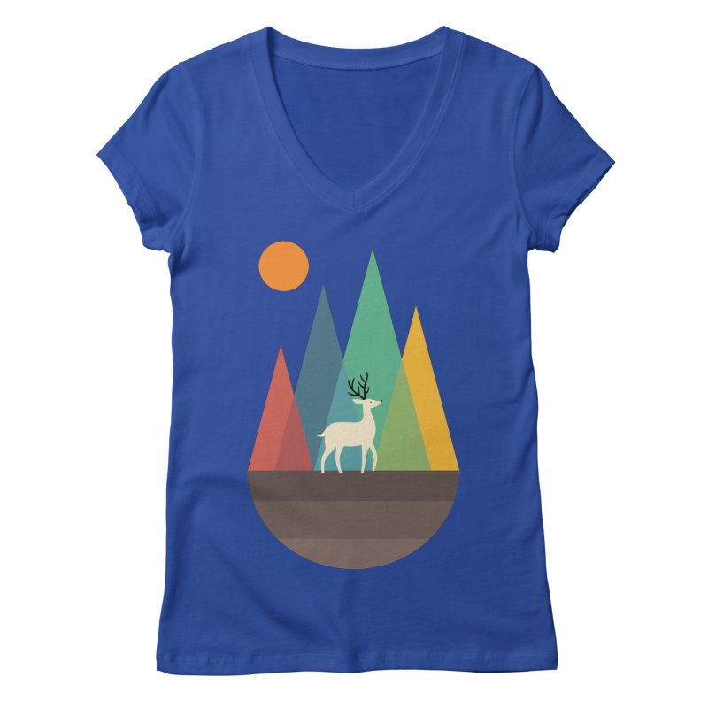 Step Of Autumn Women's V-Neck by andywestface's Artist Shop