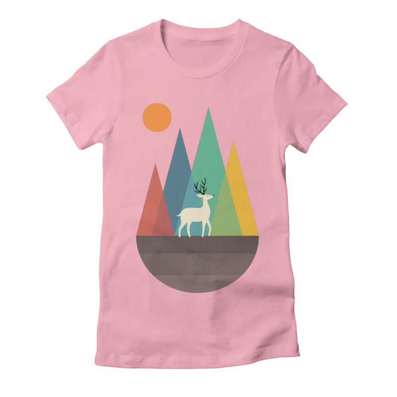 Step Of Autumn Women's Fitted T-Shirt by andywestface's Artist Shop