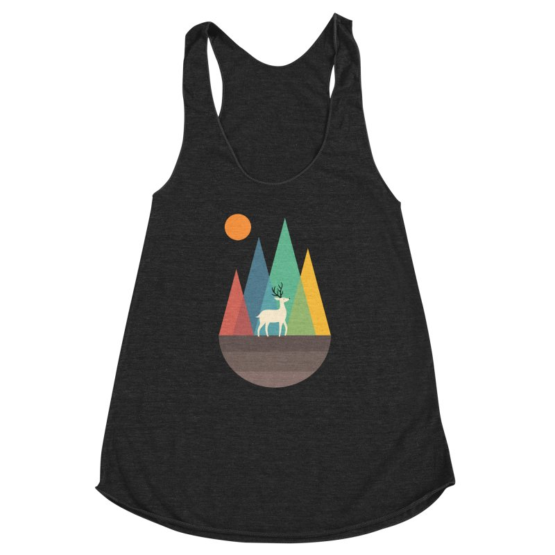 Step Of Autumn Women's Racerback Triblend Tank by andywestface's Artist Shop