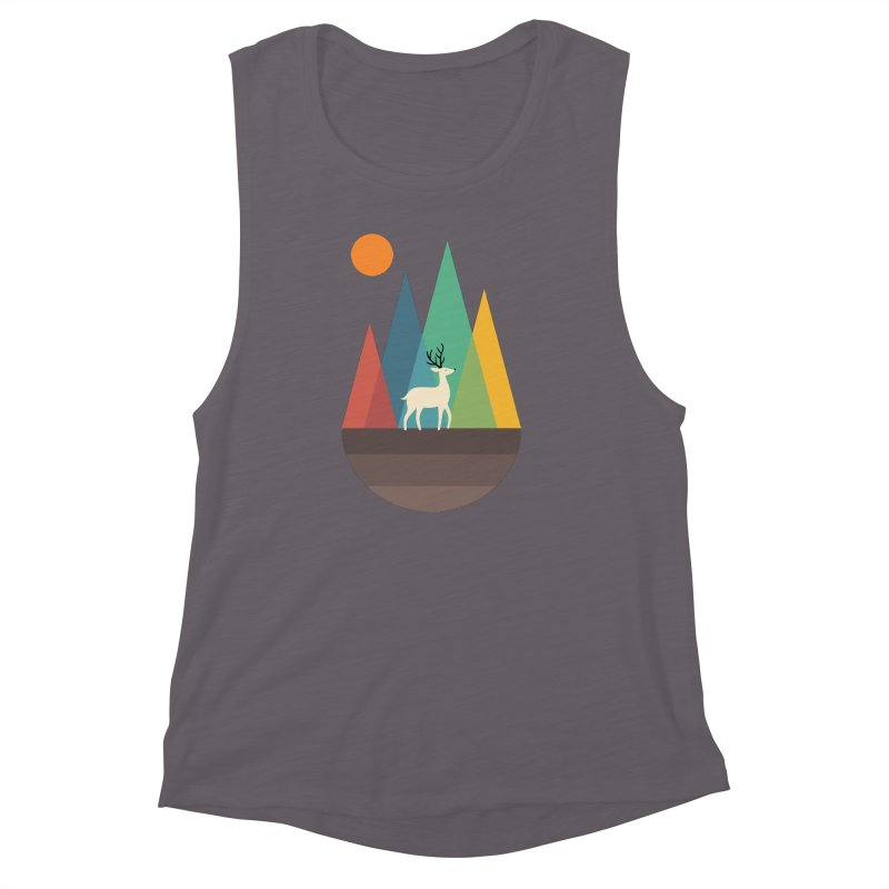 Step Of Autumn Women's Muscle Tank by andywestface's Artist Shop