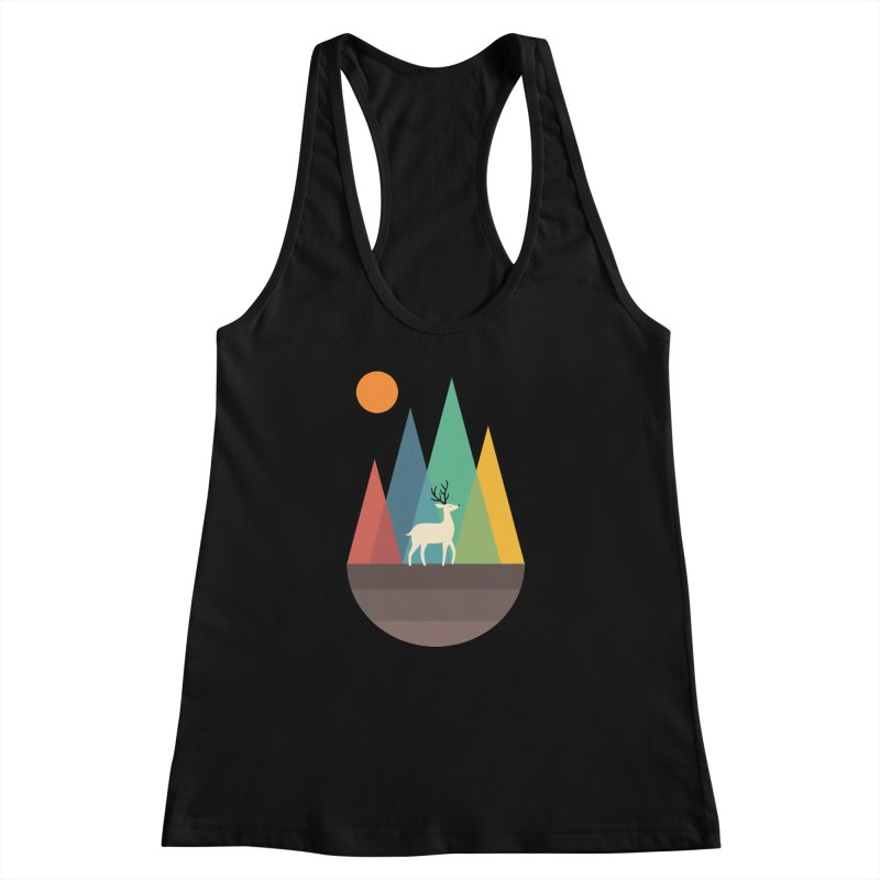 Step Of Autumn Women's Racerback Tank by andywestface's Artist Shop