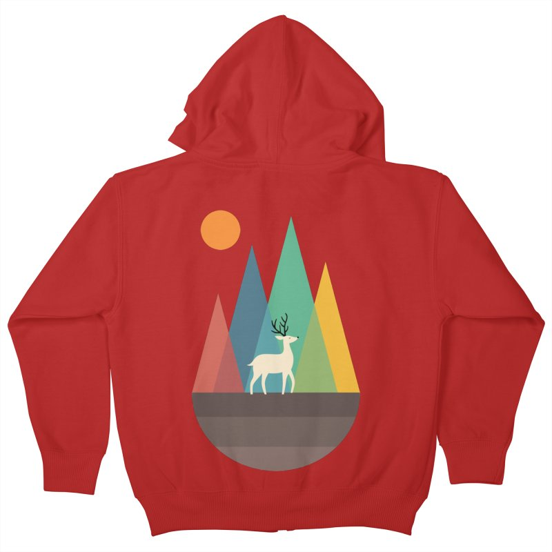 Step Of Autumn Kids Zip-Up Hoody by andywestface's Artist Shop
