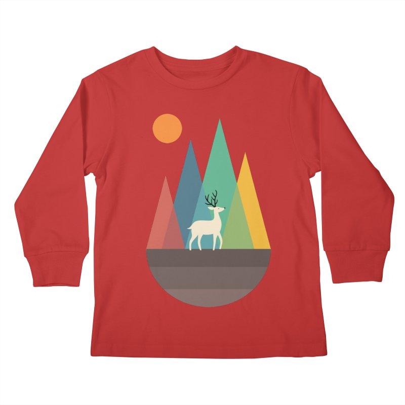 Step Of Autumn Kids Longsleeve T-Shirt by andywestface's Artist Shop