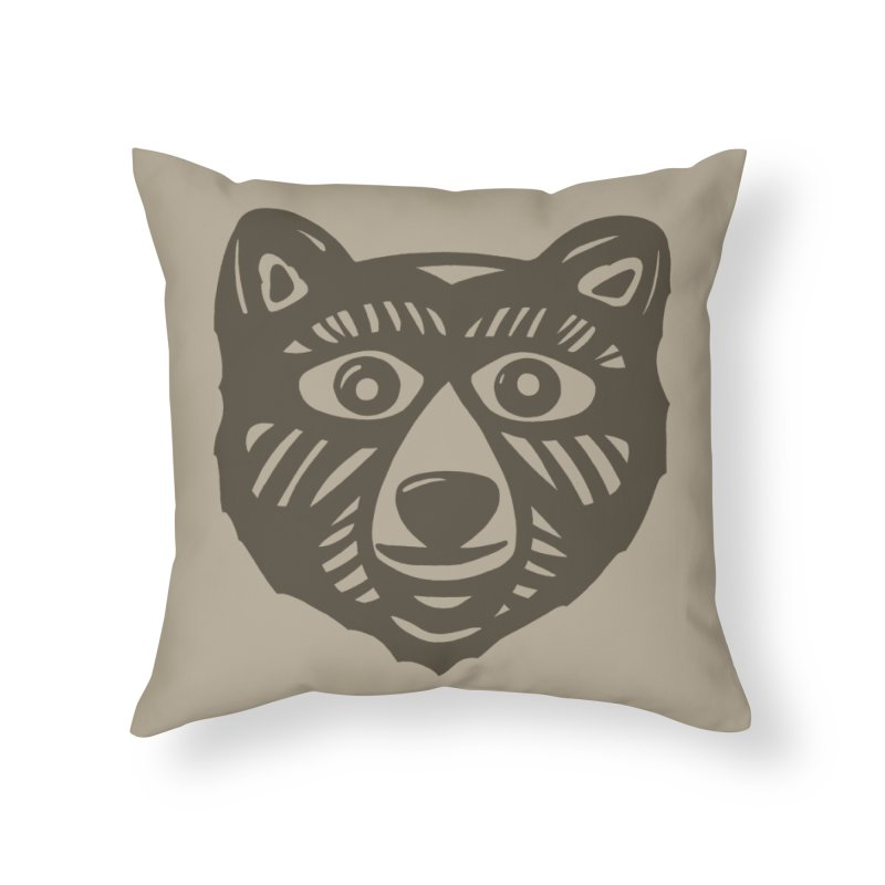 GR/ZZLY in Throw Pillow by DYLAN'S SHOP