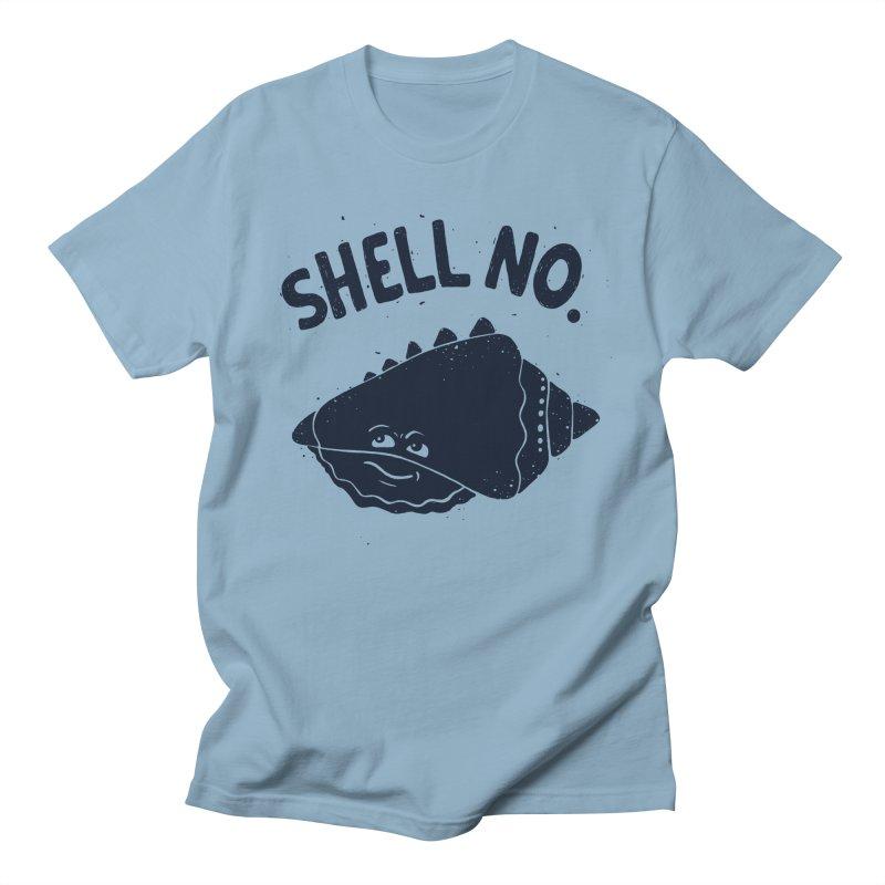 (S)HELL NO. in Men's Regular T-Shirt Light Blue by DYLAN'S SHOP