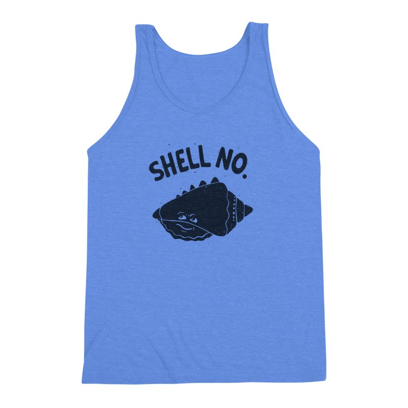 (S)HELL NO. Men's Triblend Tank by DYLAN'S SHOP