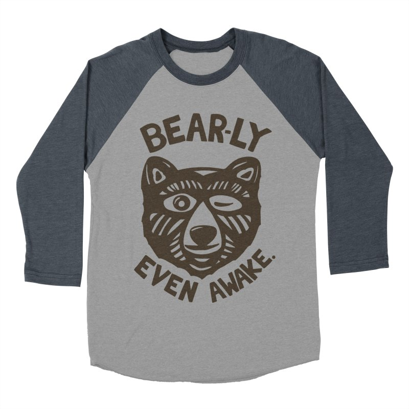 HI(BEAR)NATE Women's Baseball Triblend T-Shirt by DYLAN'S SHOP