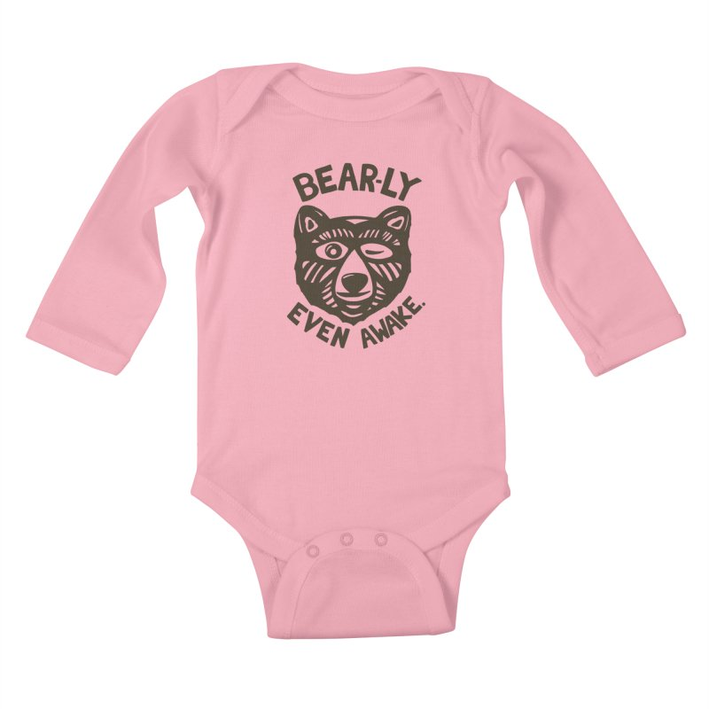 HI(BEAR)NATE Kids Baby Longsleeve Bodysuit by DYLAN'S SHOP