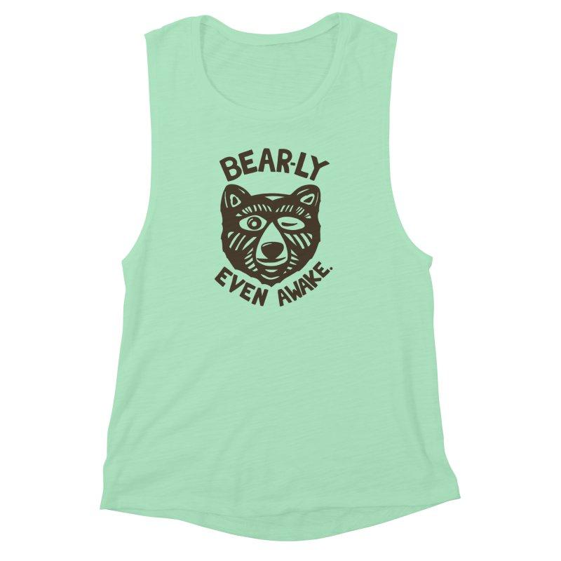 HI(BEAR)NATE Women's Muscle Tank by DYLAN'S SHOP