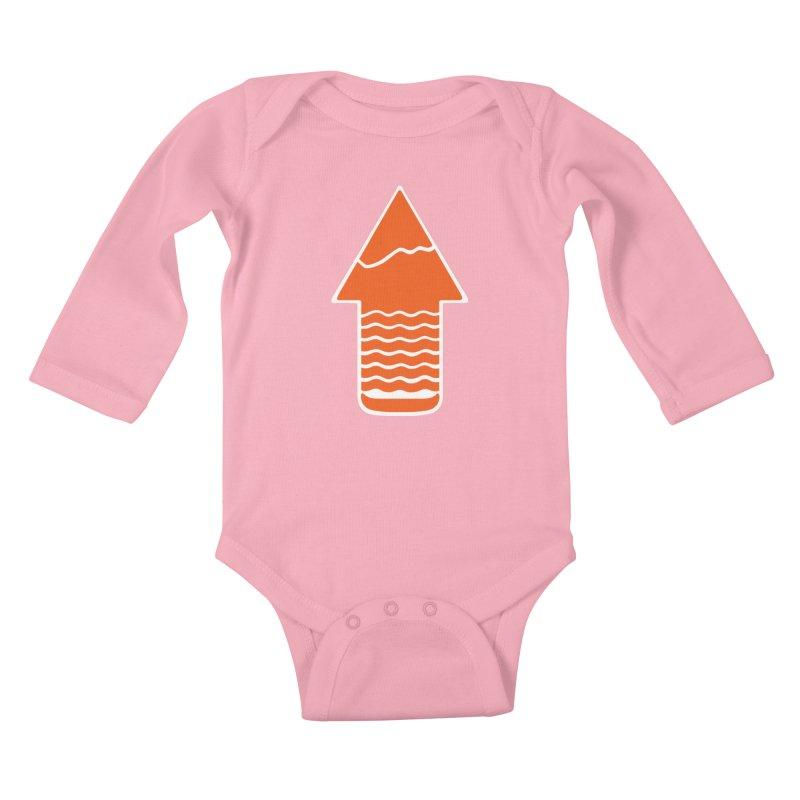 TAKE A HIKE Kids Baby Longsleeve Bodysuit by DYLAN'S SHOP