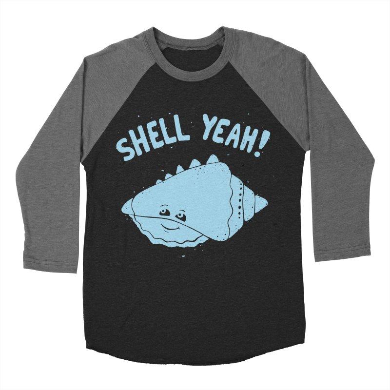 (S)HELL YEAH!  Men's Baseball Triblend T-Shirt by DYLAN'S SHOP