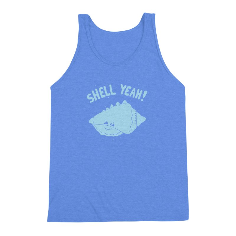 (S)HELL YEAH!  Men's Triblend Tank by DYLAN'S SHOP