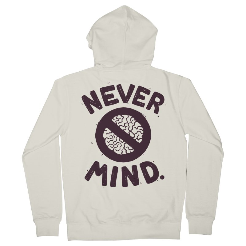 NEVER M/ND Men's Zip-Up Hoody by DYLAN'S SHOP