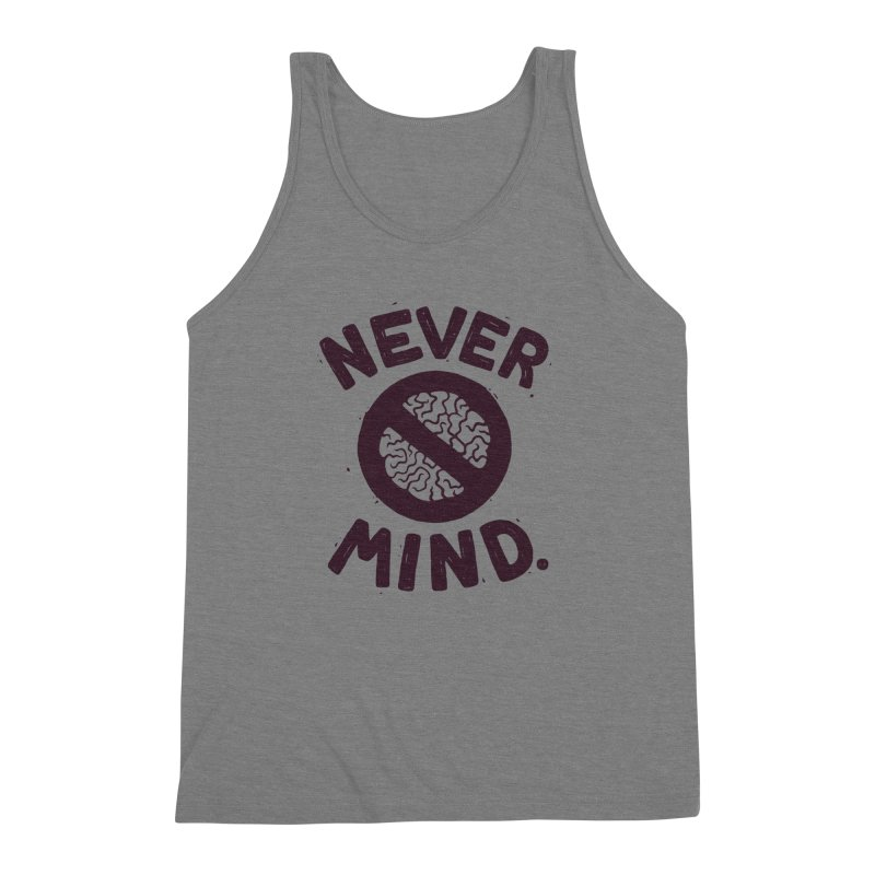 NEVER M/ND Men's Triblend Tank by DYLAN'S SHOP