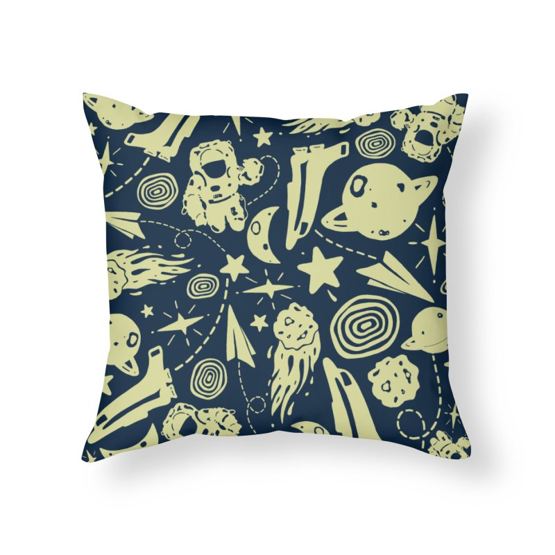 SP@CE in Throw Pillow by DYLAN'S SHOP