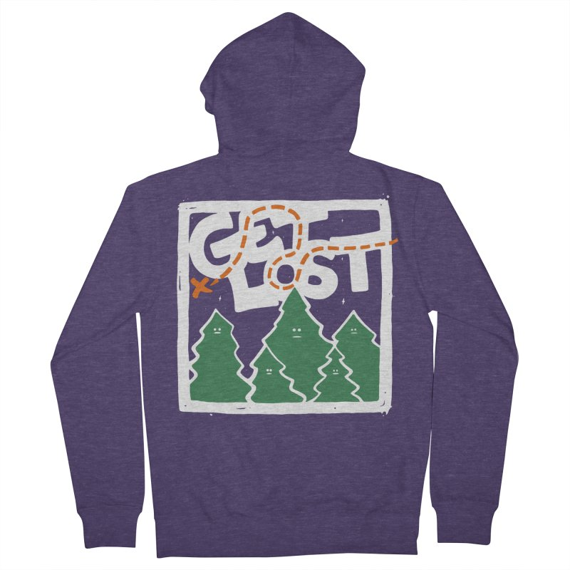 GET LOST Men's Zip-Up Hoody by DYLAN'S SHOP