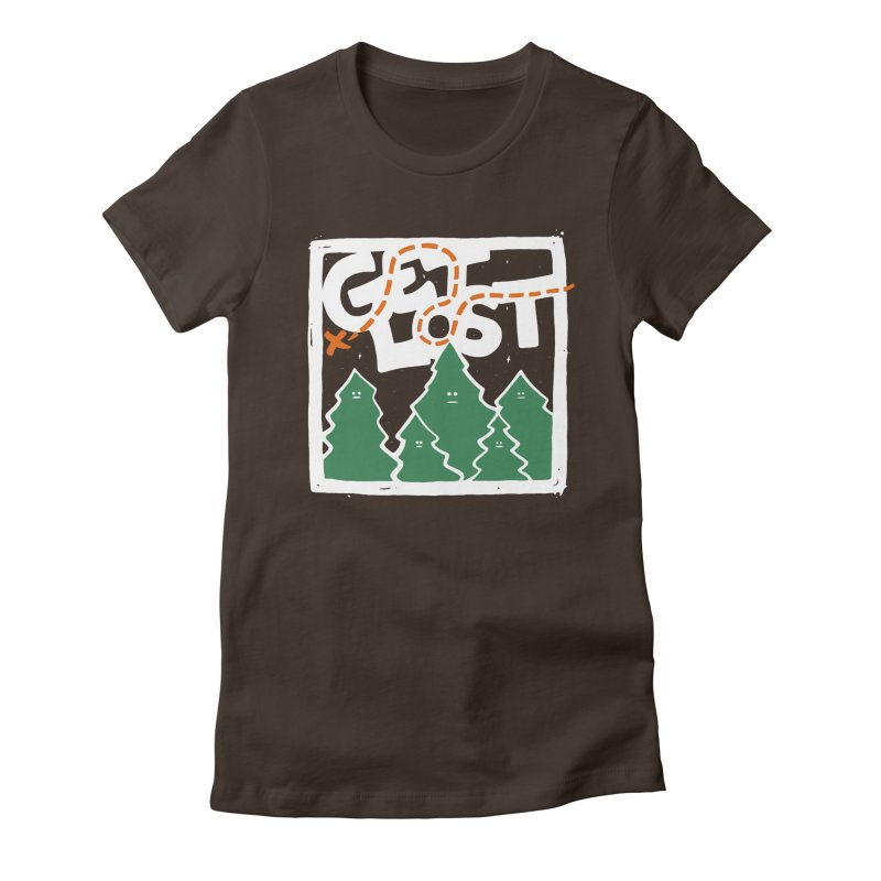 GET LOST Women's Fitted T-Shirt by DYLAN'S SHOP