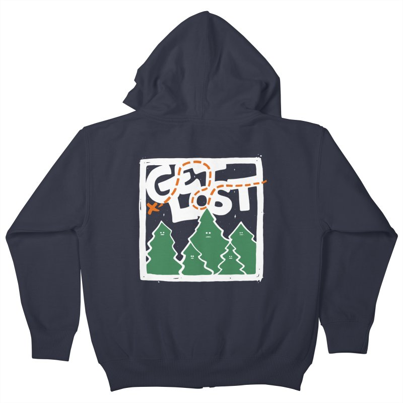 GET LOST Kids Zip-Up Hoody by DYLAN'S SHOP