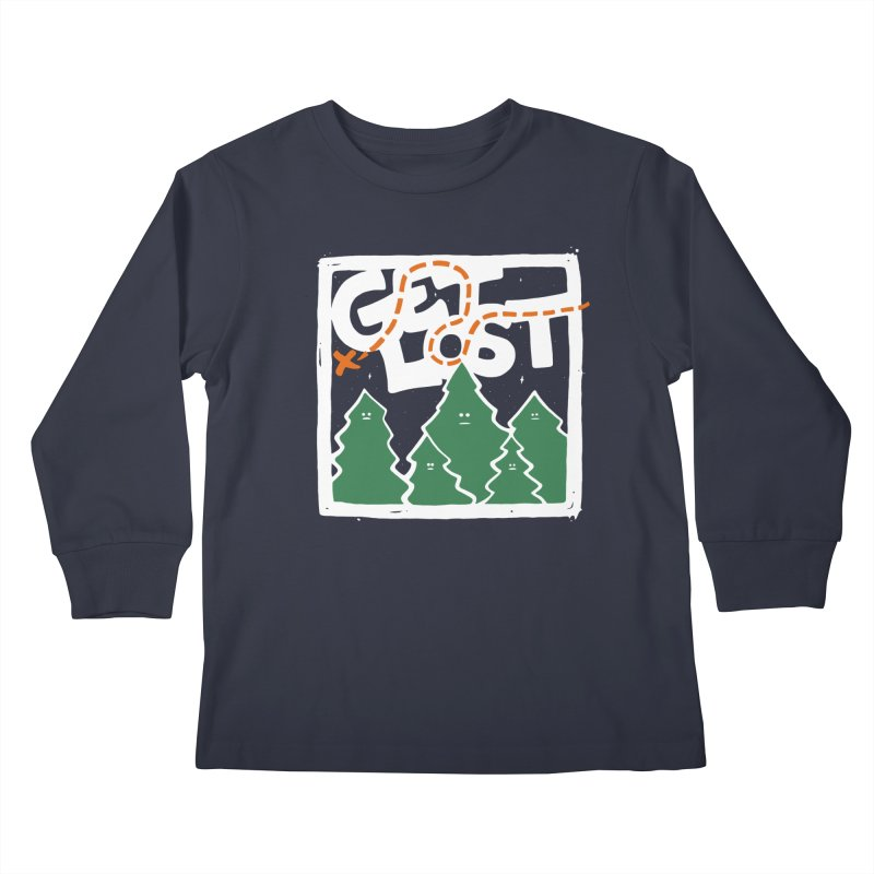GET LOST Kids Longsleeve T-Shirt by DYLAN'S SHOP