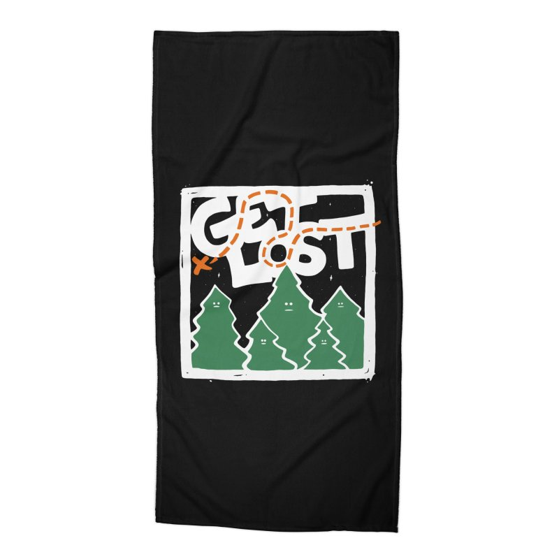 GET LOST Accessories Beach Towel by DYLAN'S SHOP