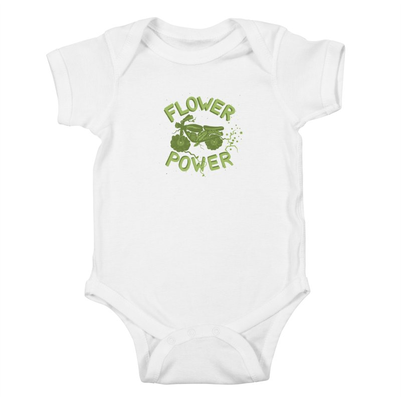 FLORAL FUEL Kids Baby Bodysuit by DYLAN'S SHOP