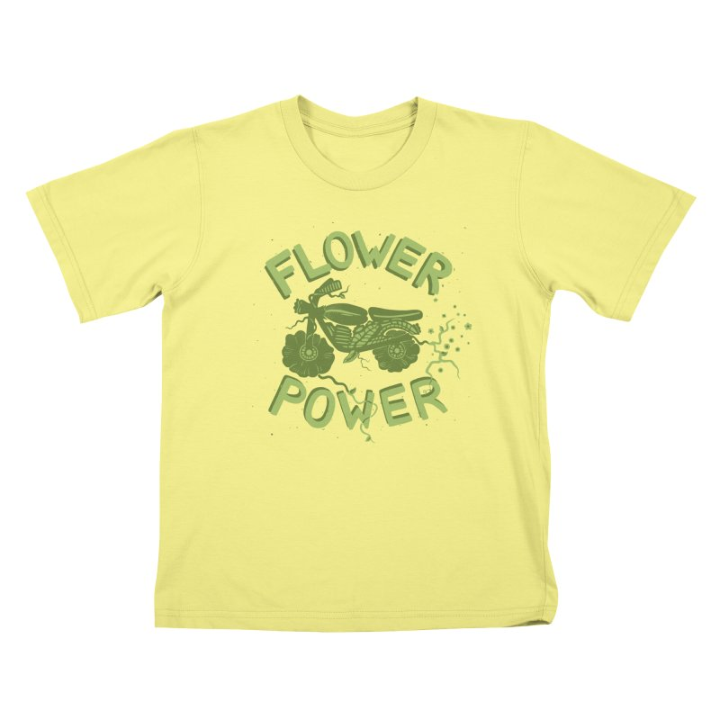 FLORAL FUEL Kids T-shirt by DYLAN'S SHOP