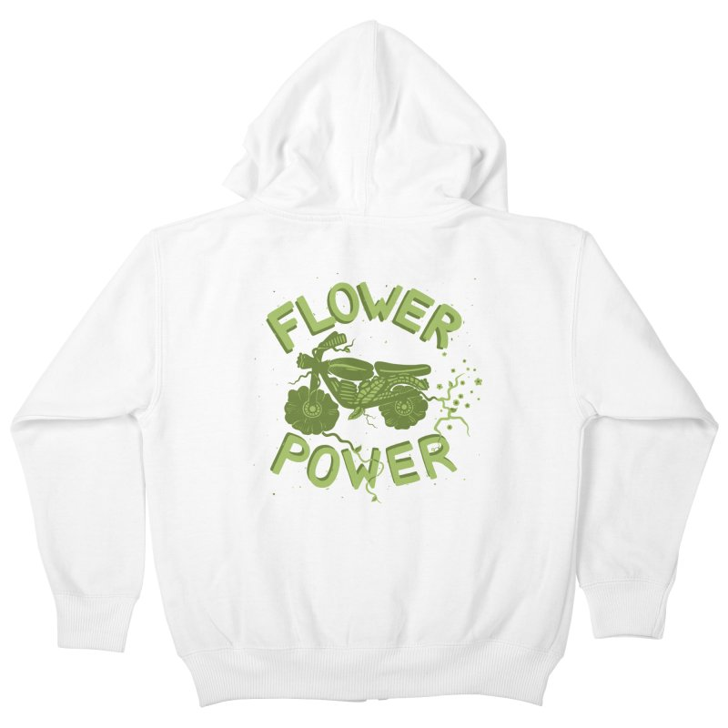 FLORAL FUEL Kids Zip-Up Hoody by DYLAN'S SHOP