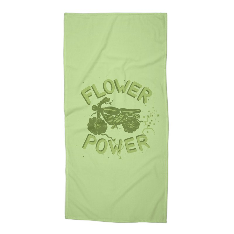 FLORAL FUEL Accessories Beach Towel by DYLAN'S SHOP