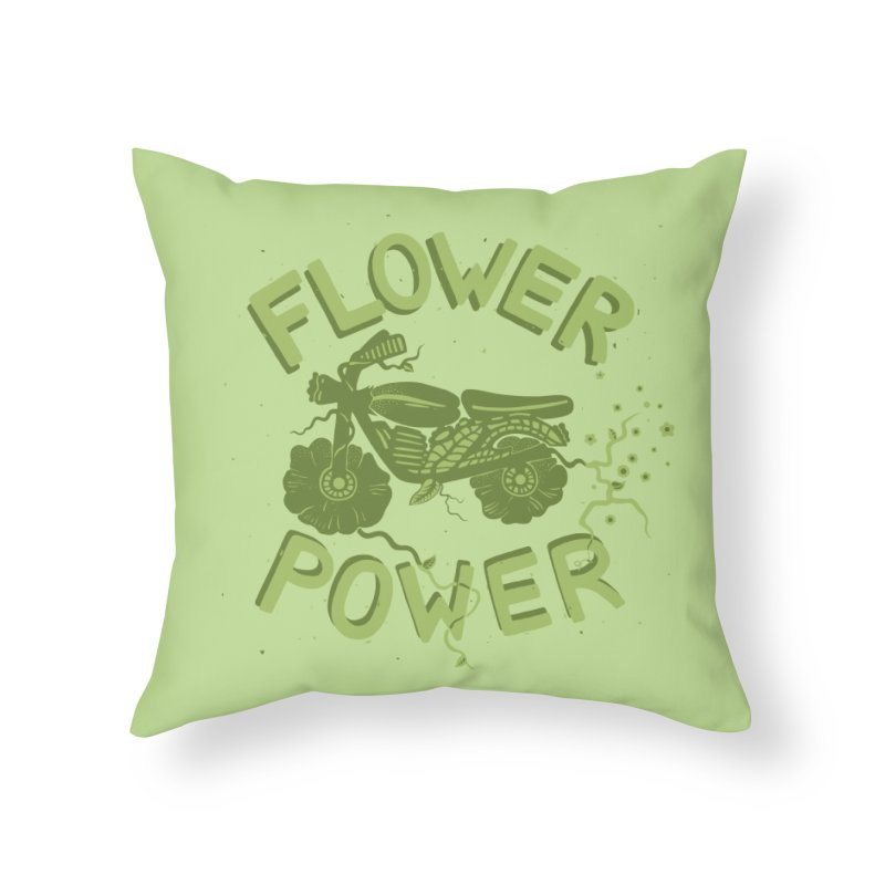FLORAL FUEL Home Throw Pillow by DYLAN'S SHOP