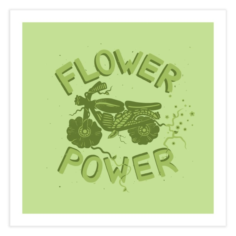 FLORAL FUEL Home Fine Art Print by DYLAN'S SHOP