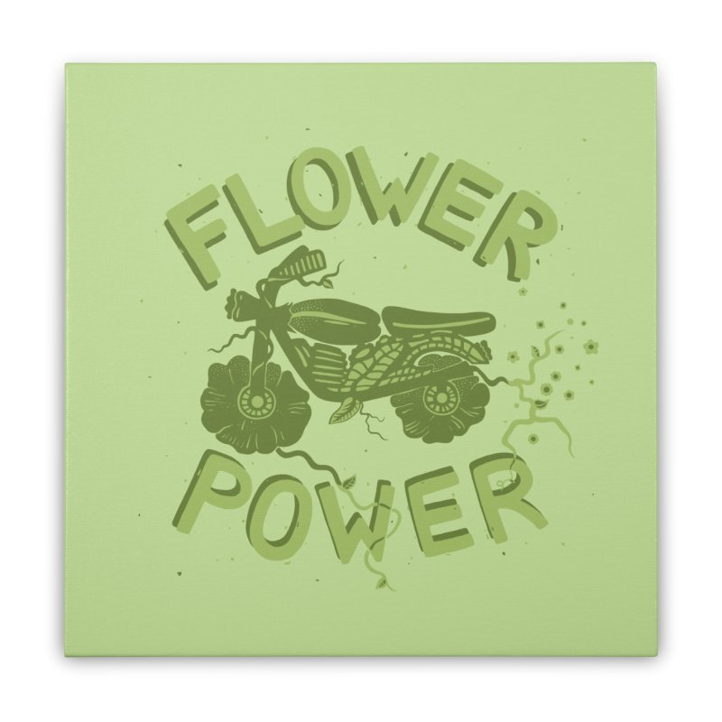 FLORAL FUEL Home Stretched Canvas by DYLAN'S SHOP
