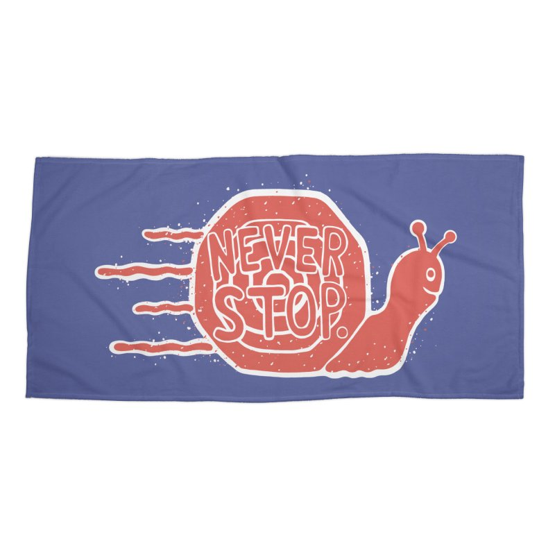 NEVER STOP Accessories Beach Towel by DYLAN'S SHOP