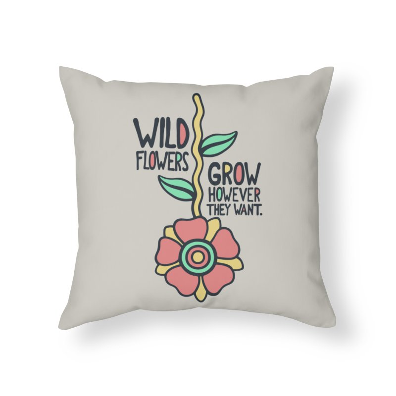 W/LDFLOWER Home Throw Pillow by DYLAN'S SHOP