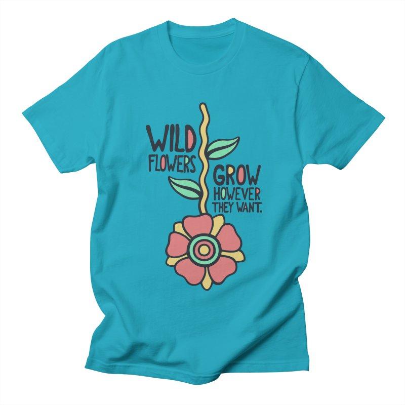 W/LDFLOWER Men's T-shirt by DYLAN'S SHOP