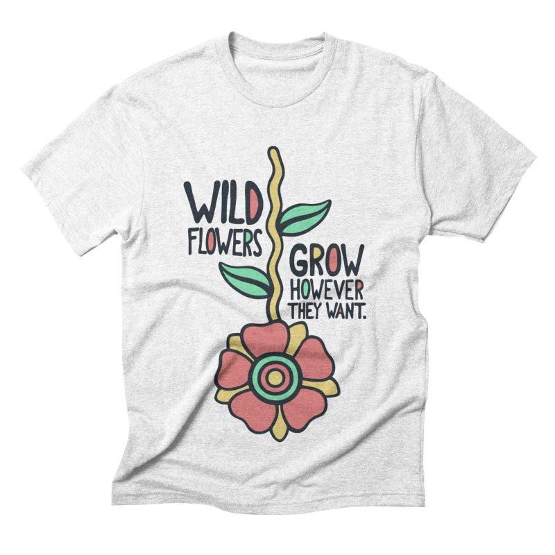 W/LDFLOWER Men's Triblend T-shirt by DYLAN'S SHOP